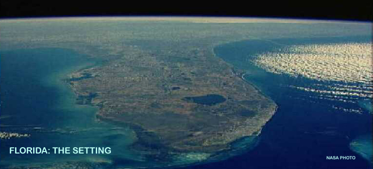 Florida from space photo