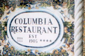 lovely tile work at the Columbia Restaurant (Ybor City)