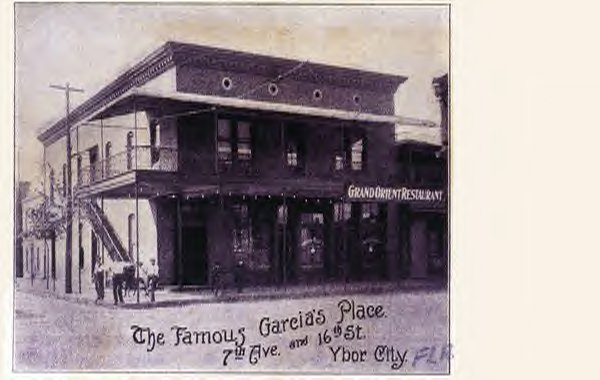 Famous Garcia Restaurant in old Ybor City.